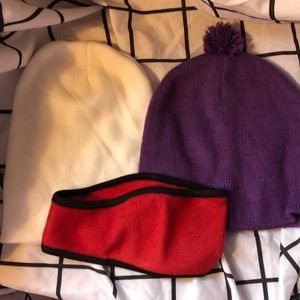 Lot of winter hats